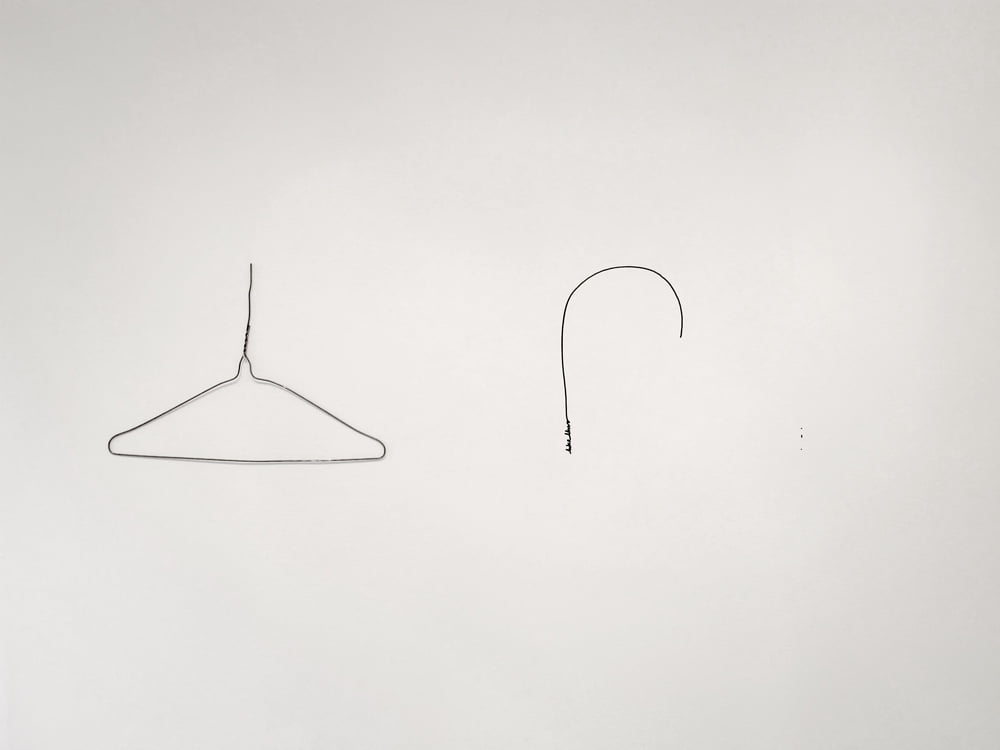 A Line Describing a Curve (Coat Hanger) 2012
